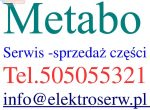 Metabo szczotki węglowe do W7-115Quick, W7-125Quick, WE9-125Quick, WE14-125Plus 31603392 31603551 316042070 316047440